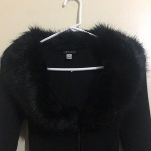Venus brand sweater with faux fur